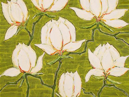 Magnolias in Green